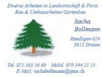 Neumitglied Sacha Bollmann Landwirtschaft, Forst, Bau- & Gartenbau